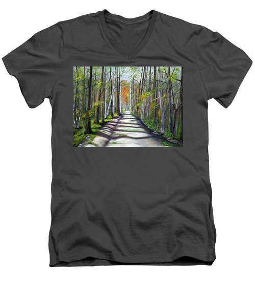 A Bright Autumn Day  Men's V-Neck T-Shirt