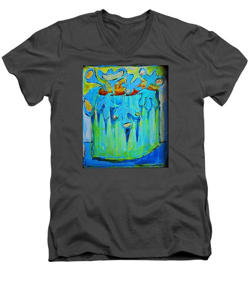 A Bucket Of Flowers Men's V-Neck T-Shirt by DAKRI Sinclair