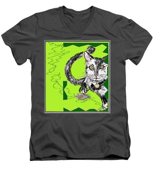 A Cat Men's V-Neck T-Shirt