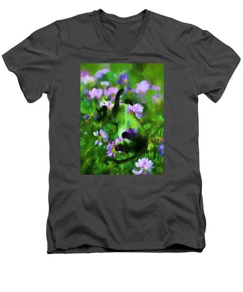 A Cat's Dream Men's V-Neck T-Shirt