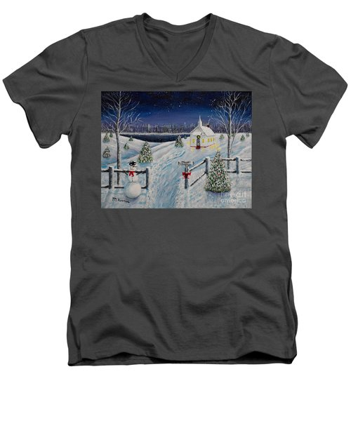 A Christmas Eve Men's V-Neck T-Shirt