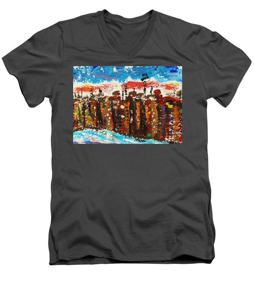 A City Like Baltimore Men's V-Neck T-Shirt