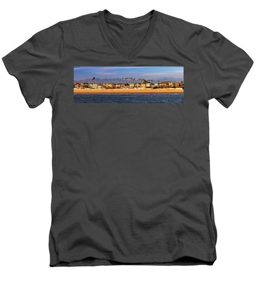 Men's V-Neck T-Shirt featuring the photograph A Clear Day At The Beach by James Eddy