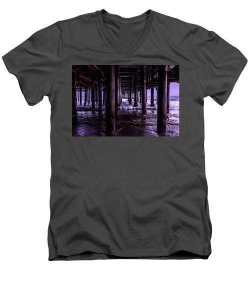 A Cloudy Day Under The Pier Men's V-Neck T-Shirt
