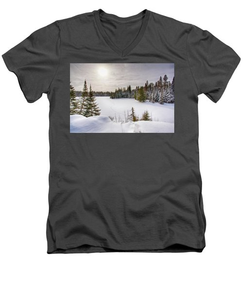 A Cold Algonquin Winters Days  Men's V-Neck T-Shirt