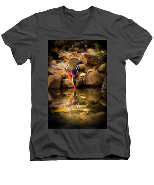 A Cold Drink - Mandarin Drake Men's V-Neck T-Shirt