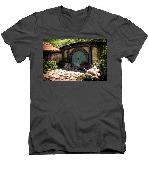 A Colorful Hobbit Home Men's V-Neck T-Shirt