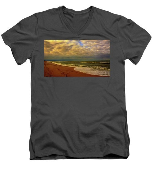 A Congregation Of Clouds Men's V-Neck T-Shirt by John Harding
