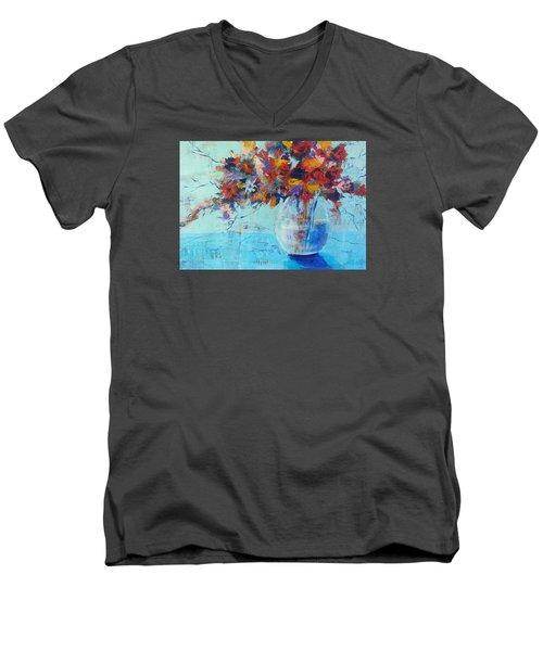 A Cool Spot Men's V-Neck T-Shirt by Becky Chappell
