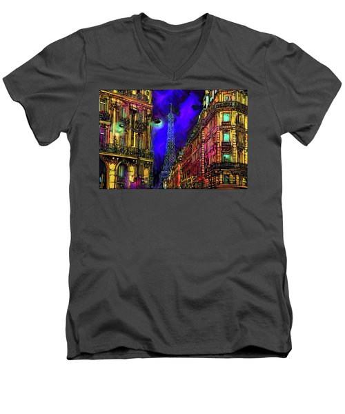 A Corner In Paris Men's V-Neck T-Shirt
