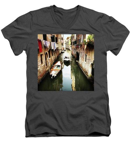 A Corner In Venice Men's V-Neck T-Shirt