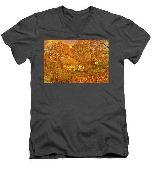 A Cotswald Fall  Men's V-Neck T-Shirt by Daniel Thompson