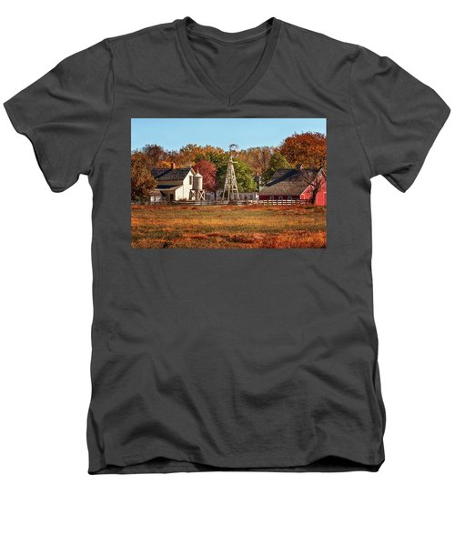 A Country Autumn Men's V-Neck T-Shirt