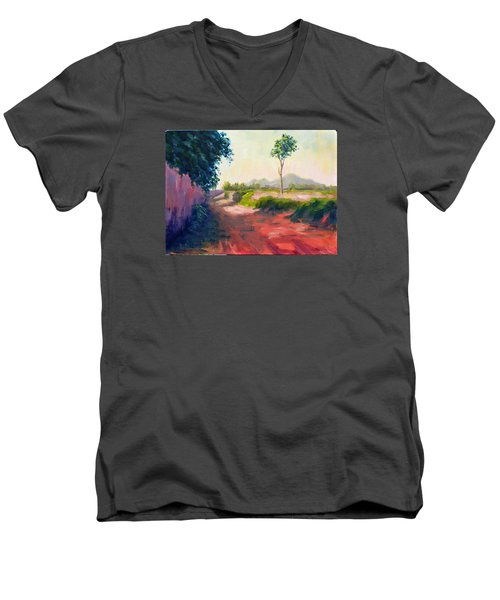 A Countryside Road Men's V-Neck T-Shirt