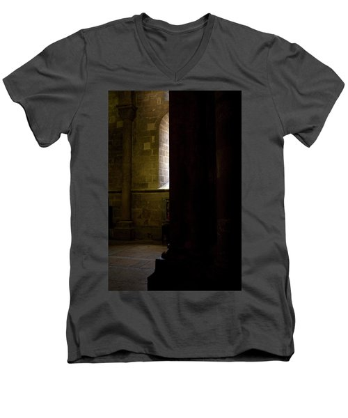 Men's V-Neck T-Shirt featuring the photograph Slice Of Light by Lorraine Devon Wilke