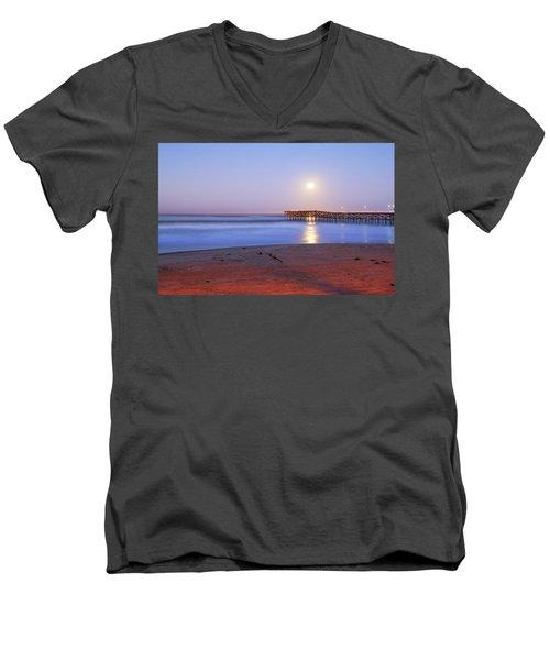 A Crystal Moon Men's V-Neck T-Shirt by Joseph S Giacalone