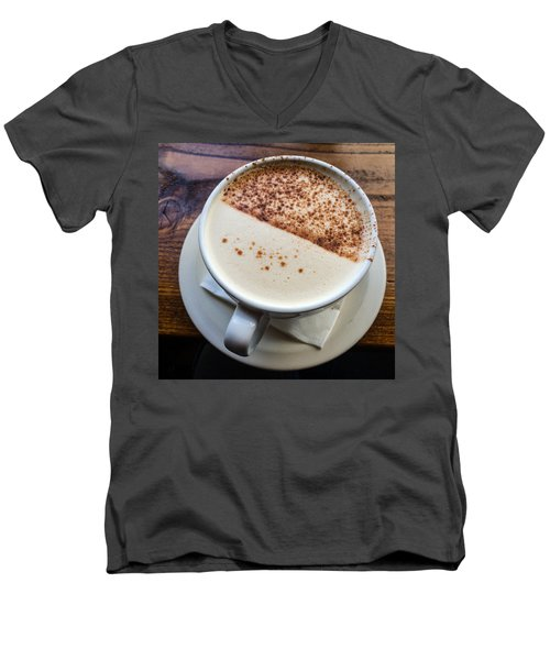 A Cup Of Chai Men's V-Neck T-Shirt by Ronda Broatch