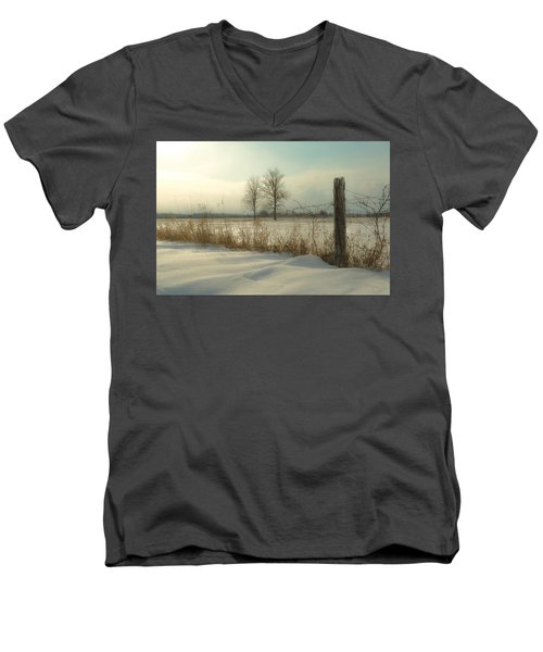 A Dawn Of New Snow Men's V-Neck T-Shirt