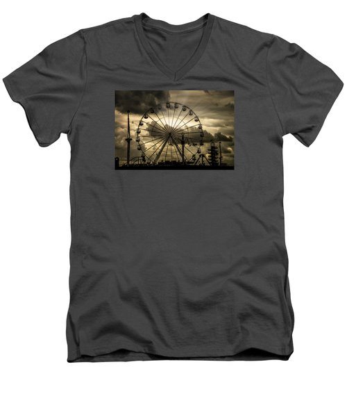 Men's V-Neck T-Shirt featuring the photograph A Day At The Fair by Chris Lord
