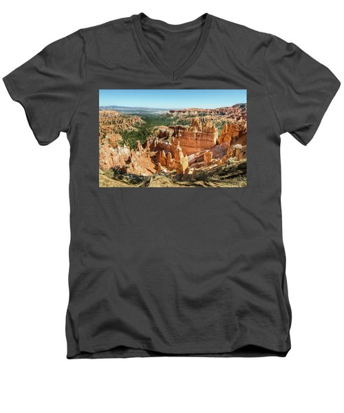 A Day In Bryce Canyon Men's V-Neck T-Shirt