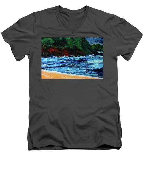 A Day At The Lake In Austin Texas Men's V-Neck T-Shirt