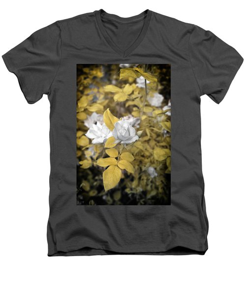 A Day In The Garden Men's V-Neck T-Shirt by Paul Seymour
