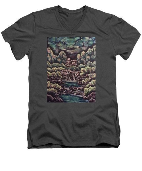 A Day To Remember Men's V-Neck T-Shirt by Cheryl Pettigrew