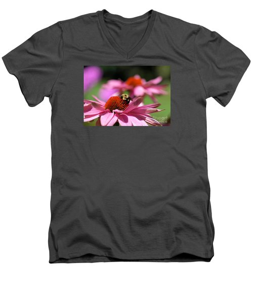 Men's V-Neck T-Shirt featuring the photograph A Day's Work by Susan  Dimitrakopoulos