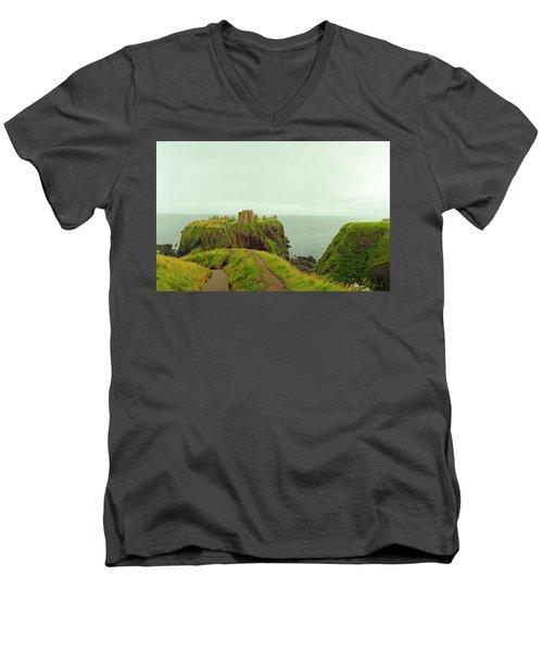 A Defensible Position Men's V-Neck T-Shirt by Jan W Faul