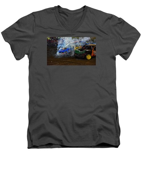 A Demo Fire Men's V-Neck T-Shirt