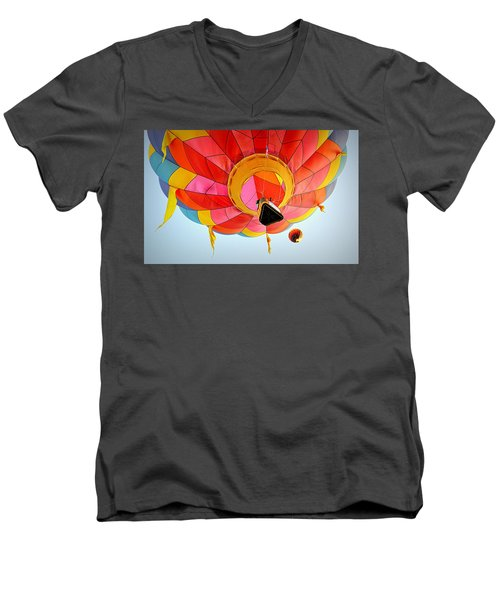 Men's V-Neck T-Shirt featuring the photograph A Different Point Of View  by AJ Schibig