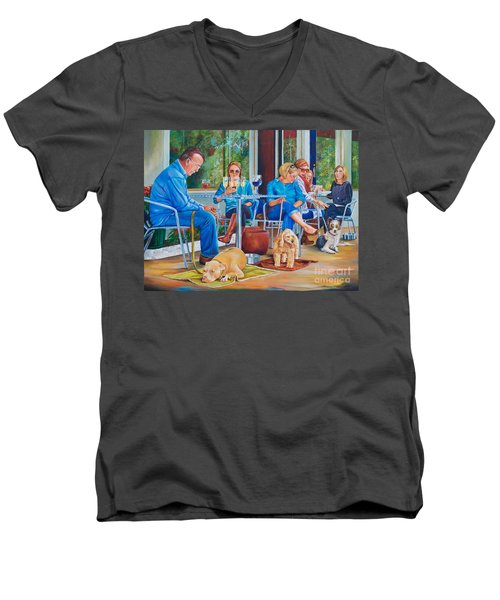 A Dog's Life Men's V-Neck T-Shirt by AnnaJo Vahle