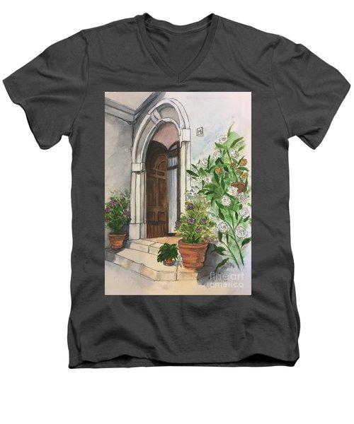 A Door In Castellucco, Italy Men's V-Neck T-Shirt