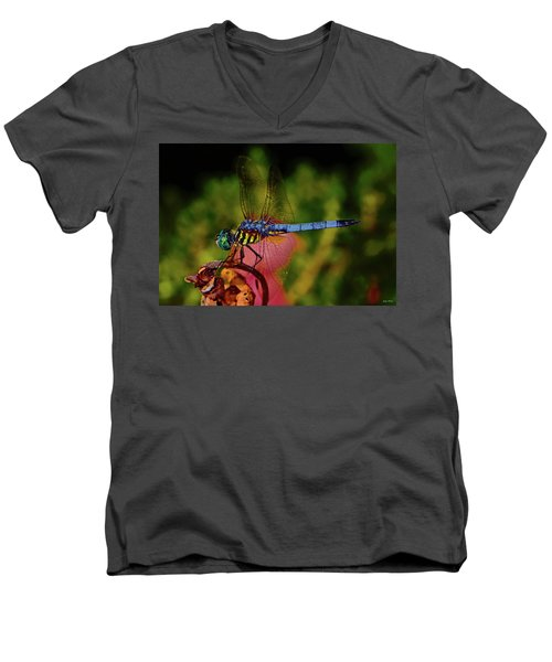 Men's V-Neck T-Shirt featuring the photograph A Dragonfly 028 by George Bostian