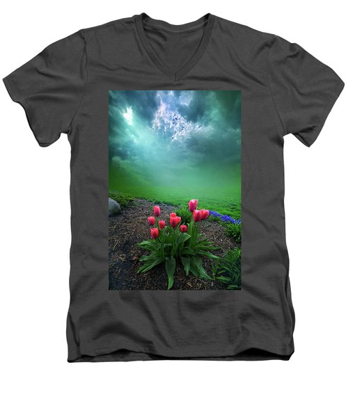 Men's V-Neck T-Shirt featuring the photograph A Dream For You by Phil Koch