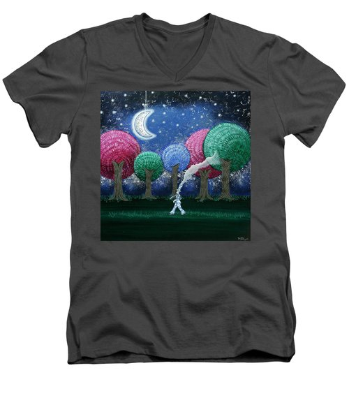 A Dream In The Forest Men's V-Neck T-Shirt
