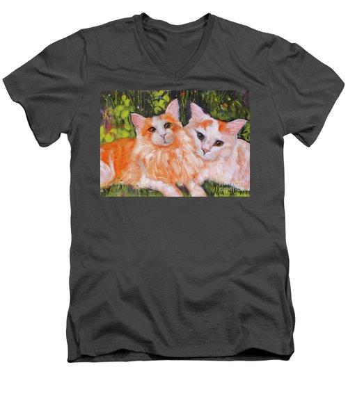 A Duet Of Kittens Men's V-Neck T-Shirt