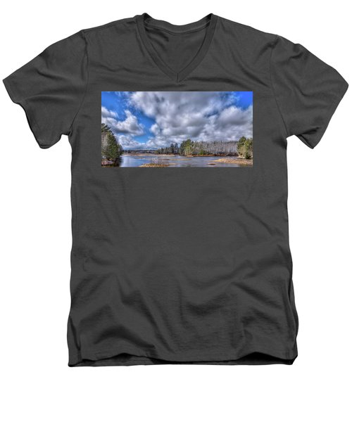 Men's V-Neck T-Shirt featuring the photograph A Dusting Of Snow by David Patterson