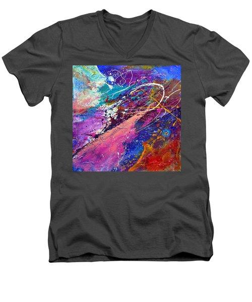 A Faded Memory Men's V-Neck T-Shirt by Tracy Bonin