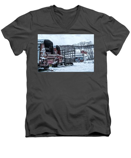 A Farmers Winter Men's V-Neck T-Shirt