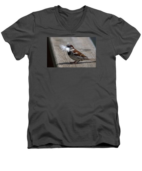 A Feather For The Nest Men's V-Neck T-Shirt
