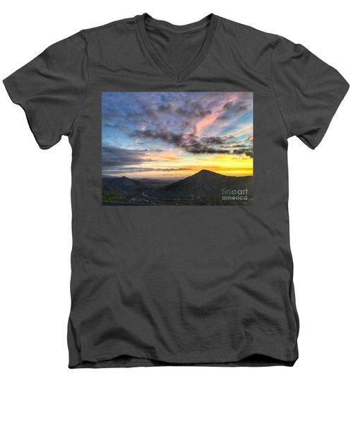 A Feeling Of The Presence Of God - Digital Painting Men's V-Neck T-Shirt