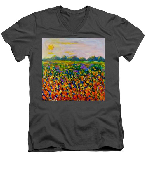 A Field Of Flowers #1 Men's V-Neck T-Shirt