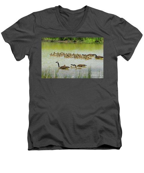 A Flotilla Of Geese Men's V-Neck T-Shirt