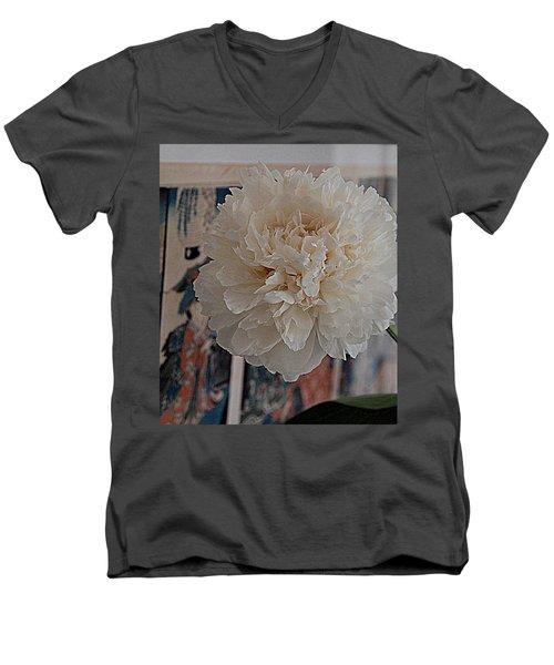 A Fluff Of Petals Men's V-Neck T-Shirt by Nancy Kane Chapman