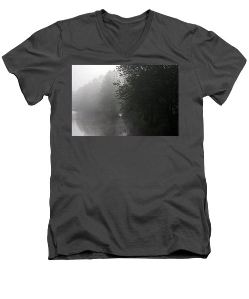 A Foggy Morning In Pennsylvania Men's V-Neck T-Shirt