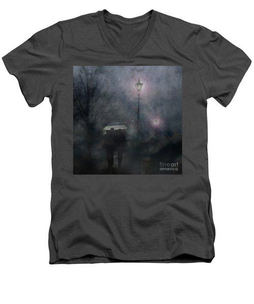 A Foggy Night Romance Men's V-Neck T-Shirt
