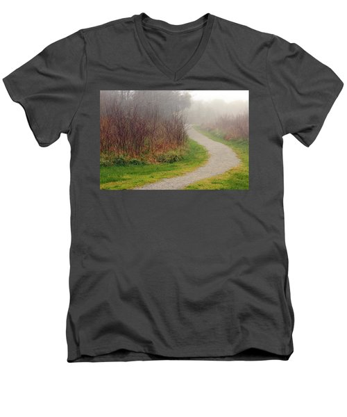 A Foggy Path Men's V-Neck T-Shirt