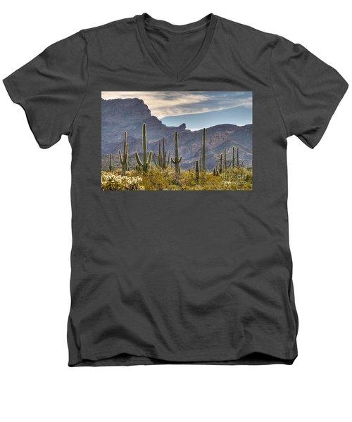 A Forest Of Saguaro Cacti Men's V-Neck T-Shirt