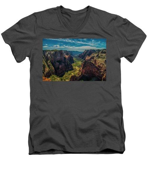 A Forever View Men's V-Neck T-Shirt